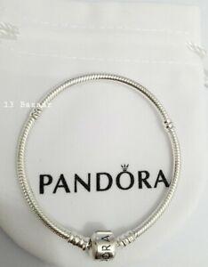 PANDORA Moments Barrel Clasp Snake Chain Charm Bracelet Silver Valentines Gift