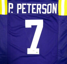 LSU TIGERS PATRICK PETERSON AUTOGRAPHED SIGNED PURPLE JERSEY PSA/DNA 113755