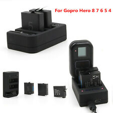 For Gopro Hero 8 7 6 5 4 Battery WiFi Remote Control Charger Charging Dock Black