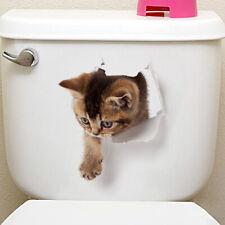 2Pcs Funny 3D Animal Toilet Seat Sticker DIY Bathroom Home Wall Art Decor Decal