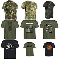 Kids Army T Shirt Boys Dress Up Fancy Dress Camouflage Zombie Camo SAS Military