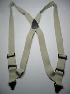 """1-1/2"""" Side Grip  AIRPORT SUSPENDERS Strong Waist Band CLIPS. MADE IN USA"""