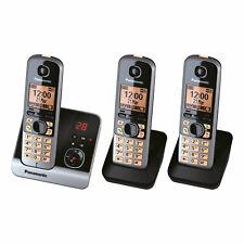 Panasonic KX-TG 6723 GB schwarz Schnurlostelefon Telefon mit Anrufbeantworter