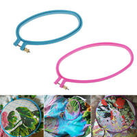 2pcs Plastic Oval Cross Stitch Machine Embroidery Hoop Ring DIY Sewing Tools