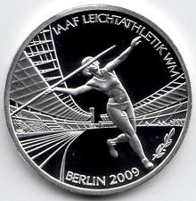 10 Euro 2009 Leichtathletik WM Deutschland PP Polierte Platte Silber 925/-