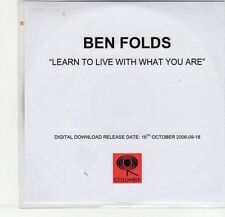 (EG353) Ben Folds, Learn to Live with what You Are - 2006 DJ CD