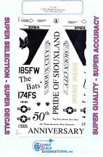 1/32 Super-Scale DECALS 32-140; F-16C Wing Commander 174th TFS/185th FW