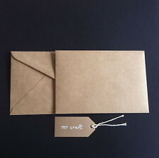 Small 72x102mm x 20 Envelopes 90gsm  Kraft Craft Brown Quality Recycled