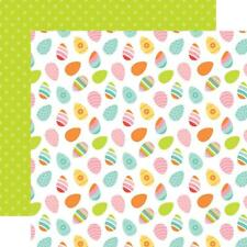 """Echo Park Hello Easter - EGG-CITED - 12x12"""" d/sided scrapbooking paper"""