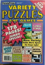 Penny Press Variety Puzzles and Games April 2017 360 Puzzles FREE SHIPPING sb