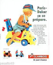 PUBLICITE ADVERTISING 086  1984  Clairbois jouets bébé SAMY Assistance