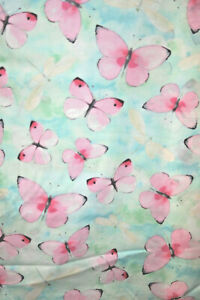 LARGE PINK BUTTERFLIES AND WHITE DRAGONFLIES FROM DARICE - COTTON FABRIC