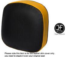 Amarillo y Negro personalizado de vinilo cabe Honda F6C Valkyrie respaldo 96-05 Cubierta de asiento