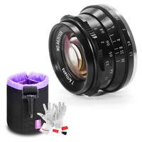 7artisans 35mm f1.2 Prime Manual lens for Fujifilm X Mount Mirrorless+Lens Pouch