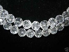 2  Strands 6mm Genuine Crystal Faceted Clear Beads