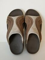 Men's FITFLOP Sandals Size 11 Brown Leather and Manmade