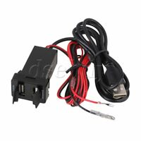 Dual USB Car Charger 5V/3.1A Output Audio Port Interface for Toyota New Type