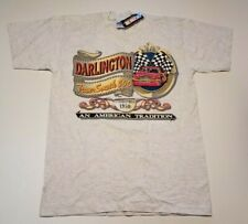 vintage NASCAR TRANS SOUTH 500 T Shirt Medium Darlington new 90s deadstock tee