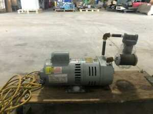 Gast 0823-1010-G583X Rotary Vane Vacuum Pump 3/4HP 1425/1725RPM 1PH