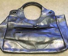 Foley Corinna Handbag - Silver Metallic Leather