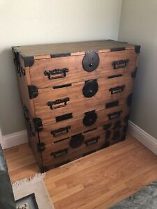 Antique Japanese Tansu Clothing Chest