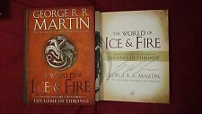 George R.R. Martin A Song of Ice and Fire The World Signed Book Game of Thrones