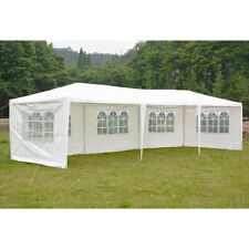 30'x10' Heavy Duty Outdoor Party Wedding Tent Canopy Gazebo with Removable Side