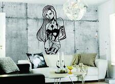 Wall Sticker Decal Vinyl  Interior Design Girl Sex Anime Biker