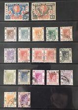 Hong Kong. 1938 & 1946 Issues. Short Set & Full Set. M & U