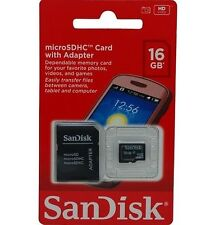 SANDISK 16GB MICRO SD MICROSDHC SDHC CLASS 4 FLASH MEMORY CARD