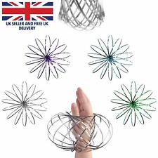 Magic Flow Rings Toys Funny Kinetic Spring Slinky Juggle Dance Gifts UK SELLER