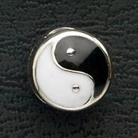 Ying Yang Stainless Steel Bead European Charm Bracelet Enamel Mothers Day Gifts