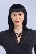 schwarz C4 Perücke NEU!!!  wig weiblich für Schaufensterpuppe Glatt Frau