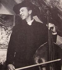 FRIENDLY PERSUASION clipping Gary Cooper as Quaker double-bass B&W photo 1956