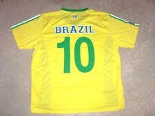 BRAZIL #10 sewn short sleeve Soccer Jersey men's XL