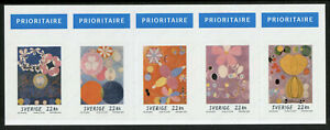 Sweden Abstract Art Stamps 2020 MNH Hilma af of Klint Paintings 5v S/A Booklet