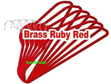 10 Joy Mangano Huggable Hangers Suite Brass - Ruby Red