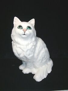 Beswick Persian Cat Figurine Green Eyes, England, Vintage