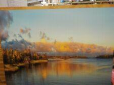 Designart Autumn Sunset Panorama-Landscape Photo Metal Wall Art-MT8166-40x30