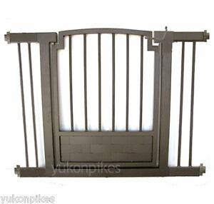 """38""""-44"""" Royal Indoor Dog & Pet Adjustable Metal Safety Gate - Mocha Brown"""