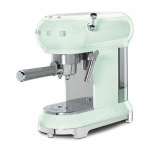 Macchina da caffè espresso SMEG ECF01PGEU verde multi funzione stile anni '50