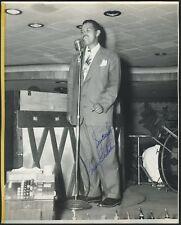 Billy ECKSTINE (Singer/Bandleader): Signed Photograph