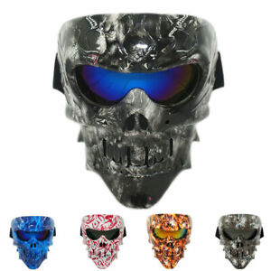 Skull Tactical Mask Paintball Airsoft CSGAME Full Face Protective Helmet Goggles