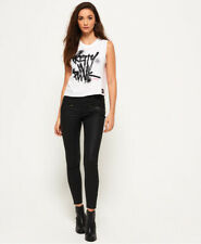Superdry Womens Elana Coated Cropped Jeans