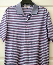 NWOT Peter Millar Men's L Tailored Fit Polo S/S 100% Cotton Shirt NEW