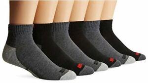 PUMA Socks Men's Quarter Cut Socks, White, Sock, Dark Grey/Black, Size 10.0 OzyV