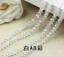 Hot 8mm 35pcs Faceted Rondelle Bicone Crystal Jewelry Beads Transparent 004