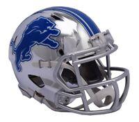 Detroit Lions Riddell Speed Mini Helmet - Chrome Alternate