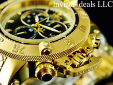 Invicta 50mm Subaqua Noma III Swiss ETA Chrono Black Dial 18K Gold Plated Watch