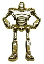 "Enamel 2"" Tall Pin Iron Giant Robot Metal"